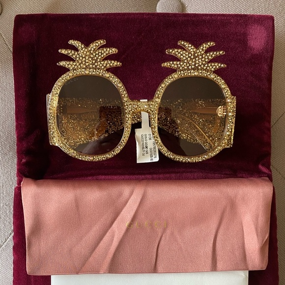 Gucci 53MM Pineapple Round Sunglasses (NWT)